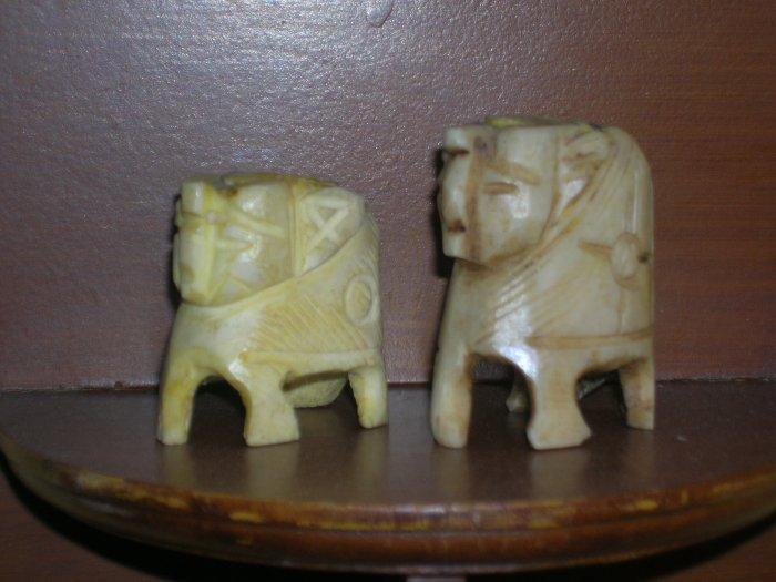 2 hand made Sculptures