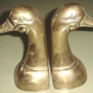 SOLID BRASS DUCK BOOKENDS