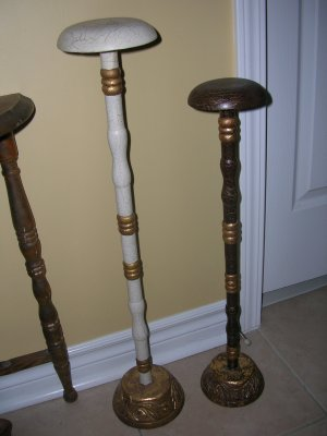 2 Wooden Hat Stand