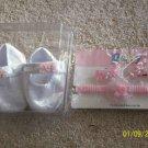 NB infant Newborn Girls white baby Christening Crib Shoes