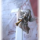 Pewter Angel ~Gabriel&#39;s Horn christmas pin