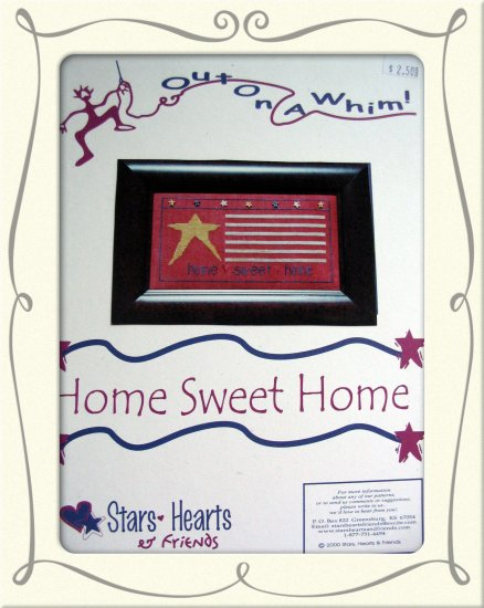 Home Sweet Home - sampler flag cross stitch leaflet