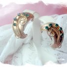 Vintage jewelry Karu 1950 rhinestone clip earrings