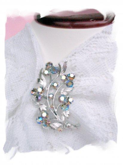 Beautiful Lisner Vintage jewelry pin AB rhinestones