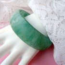 Vintage Marbleized Frosted Green Bangle Bracelet