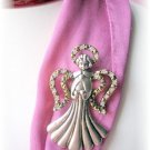 Boutique ANGEL Pin with Crystal Rhinestones jewelry
