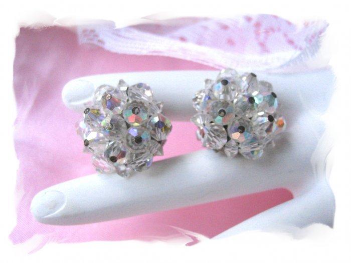 vintage jewelry Crystal Laguna Lead Crystal Earrings