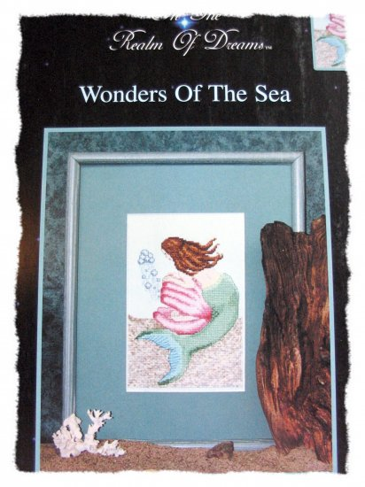 Wonders of the Sea - mermaid - cross stitch leaflet