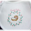Handmade baby girl infant bib clothing