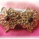 Vintage jewelry Emmons signed clip earrings flower