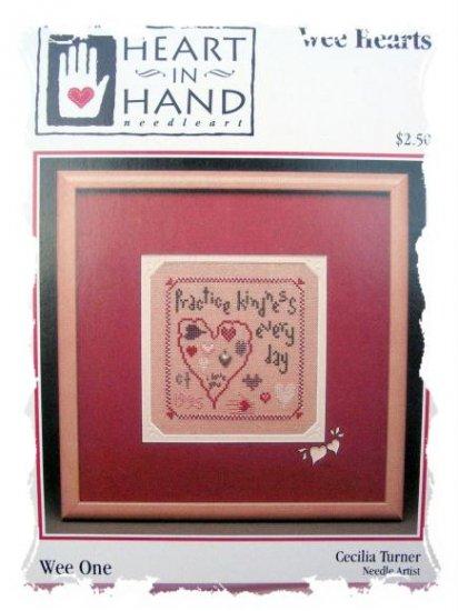 heart in hand - wee hearts - cross stitch pattern