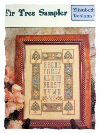 Fir Tree Sampler by elizabeth's designs cross stitch