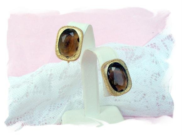 sarah coventry earrings golden embers vintage jewelry
