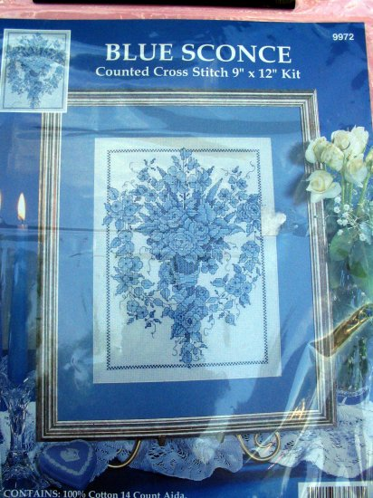 Design Works Blue Sconce Counted Cross Stitch Kit