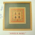 JBW DESIGNS Joyeux Noel cross stitch Chart christmas