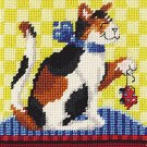 janlynn needlepoint kit playtime for kitty cat
