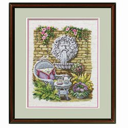 The Tea Garden Cross Stitch Pattern Garden Janlynn