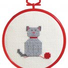 cat beginner's cross stitch kit janlynn  great for kids to learn