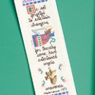 Be Not Forgetful Bookmark w/ Charm cross stitch kit angel