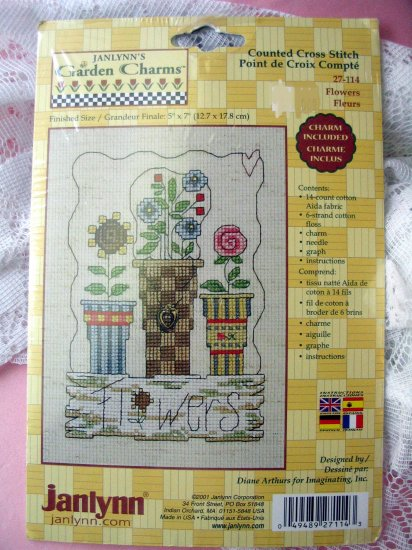 Flowers with charm Janlynn garden  kit cross stitch