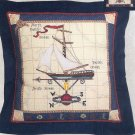 MARITIME TRAVELS PILLOW CROSS STITCH KIT