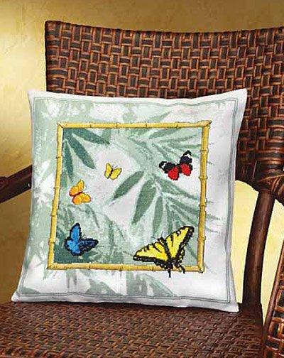 Bamboo Butterflies counted cross stitch kit Janlynn