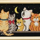 Jiffy Dimensions Nighttime Meow cat cross stitch kit