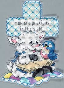 Blessings You are precious cross stitch kit lamb cross