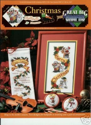christmas bell pulls Great Big Graphs cross stitch patten