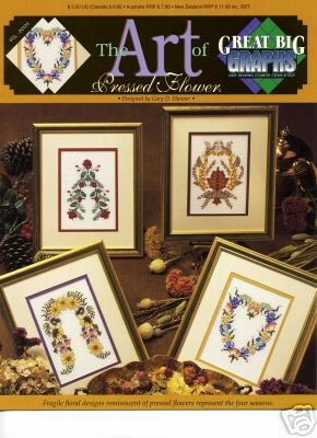 the art of pressed flower cross stitch great big graphs