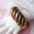 Silver Copper Bangle Bracelet