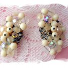 Vintage West Germany Glass beaded earrings