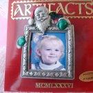 Santa Christmas frame pin signed JJ