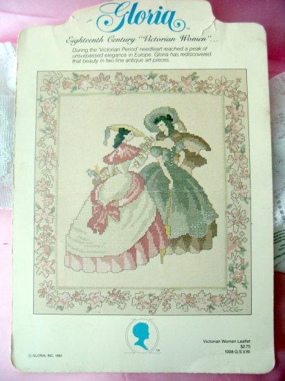 Gloria Victorian Women leaflet 1982 rare cross stitch