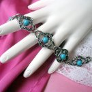 Sarah Coventry Bracelet Book Piece Blue Lady