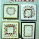 Sentiments Cross Stitch by Roberta Madeleine