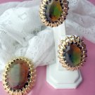 EMMONS GLASS PIN AND CLIP EARRINGS parure