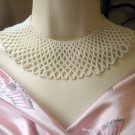 VINTAGE WHITE NECKLACE BIB COLLAR JEWELRY SIGNED