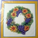 Bobbie G Designs Cross Stitch pattern GRAPES A PLENTY rare