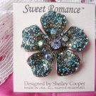 Sweet Romance Rhinestone Flower Pave Poppy Pin