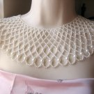 Huge Vintage Faux Pearl Bib Necklace Collar