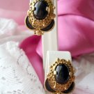 Beautiful Clip style earrings Black and Ornate