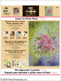 FolkArt One Stroke Learn-to-Paint Paint roses Dewberry