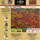 FolkArt One Stroke Learn-to-Paint Paint Field of Poppies Dewberry