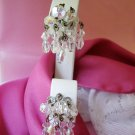 Vintage earrings dangling crystal glass beads
