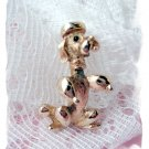 Sarah Coventry Frenchie Poodle Dog Brooch