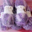 5 skeins Gala Yarn Mixed Fiber - Super Soft Purple