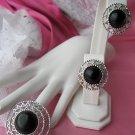 sarah coventry jet set vintage jewelry demi parure