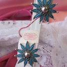 Tara Vintage Clip Earrings - Tropicana - Turquoise Color