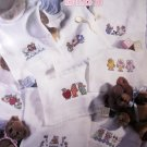 Leisure Arts BEARY SWEET BIBS Cross Stitch